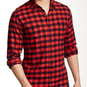 L J. Crew Factory Slim Flannel Red Shirt